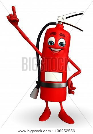 Fire Extinguisher Character Is Pointing