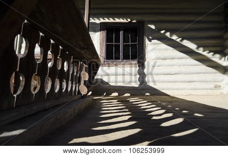 Rustic house detail