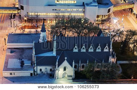 Church In Downtown Of Winnipeg