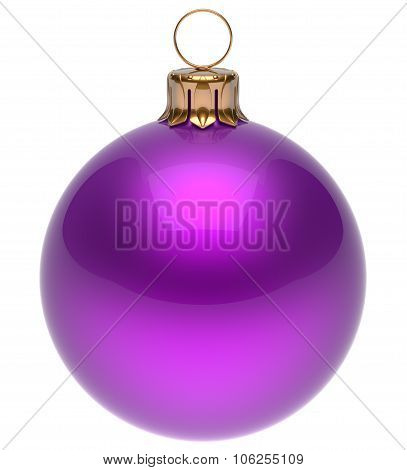 Christmas Ball Purple New Year's Eve Bauble Decoration Blank