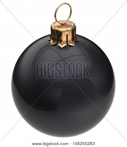 Christmas Ball Black New Year's Eve Bauble Xmas Decoration