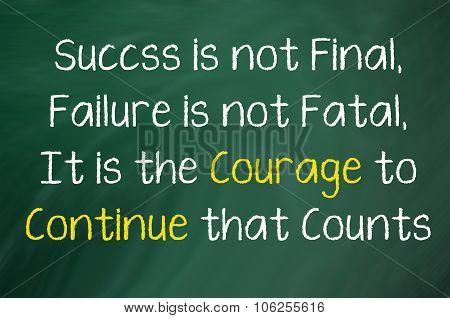 Success is not Final...