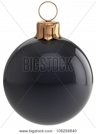 Christmas Ball New Year's Eve Bauble Black Xmas Decoration