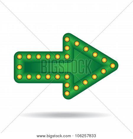 Glowing Neon Arrow