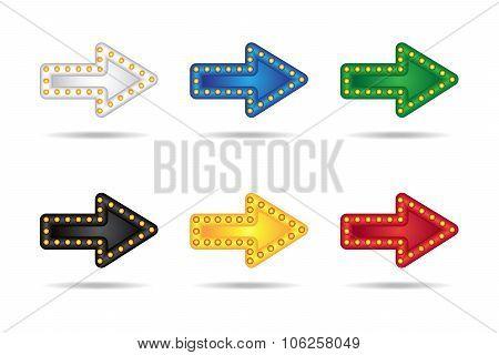 Glowing Neon Arrows Set