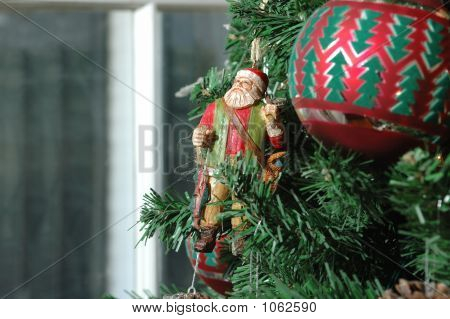 Wooden St. Nick (Santa Claus) Christmas Ornament