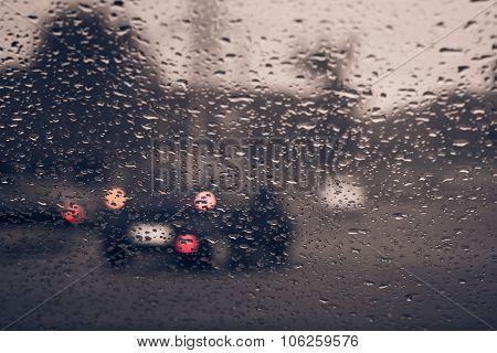 Blurry Car Silhouette