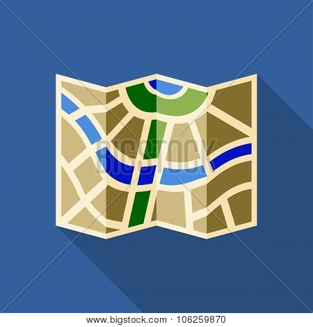 Icon Of City Map