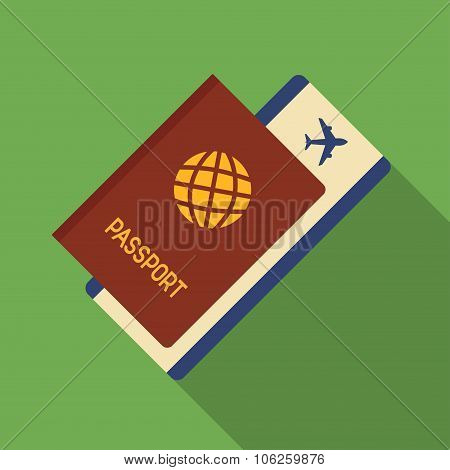 Icon Of Passport