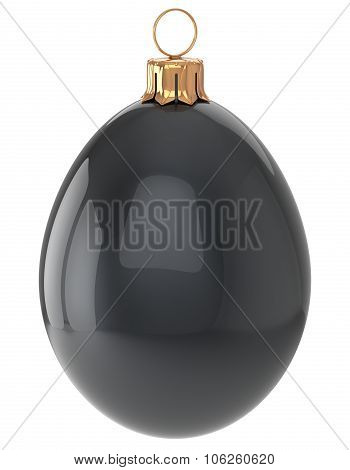 Christmas Ball Egg New Year's Eve Bauble Black Decoration