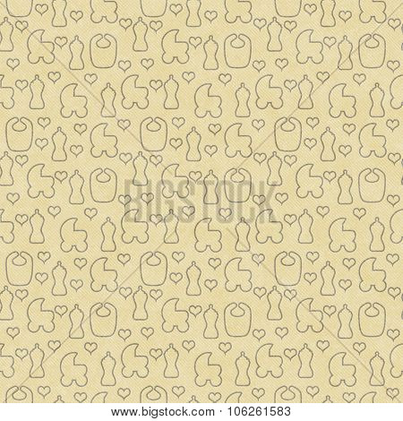 Yellow Baby Tile Pattern Repeat Background
