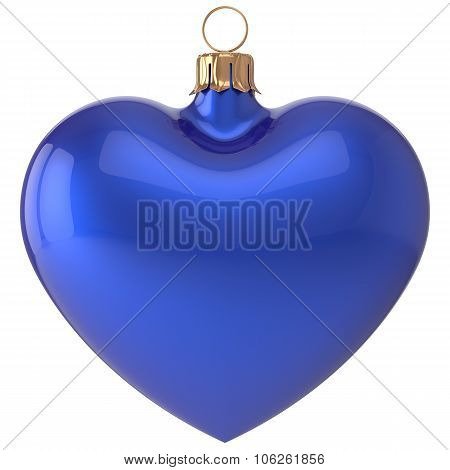 Christmas Ball Heart New Year's Eve Bauble Decoration Blue