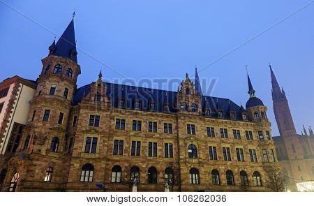 Rathaus And Marktkirche In Wiesbaden