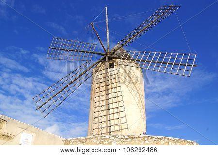 Windmill in Palma de Mallorca, Spain