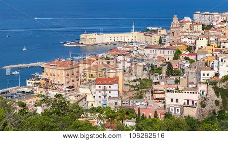 Cityscape Of Old Coastal Town Gaeta