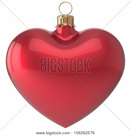 Christmas Ball Heart New Year's Eve Bauble Decoration Red