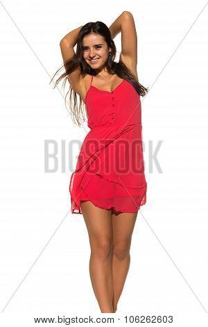 Bright Red Dress