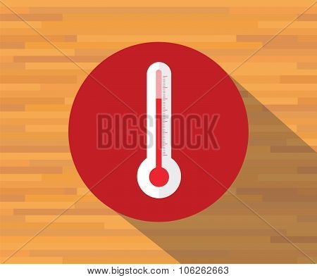 thermometer vector isolated flat shadow