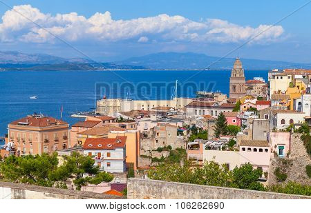 Cityscape Of Old Coastal Town Gaeta, Italy
