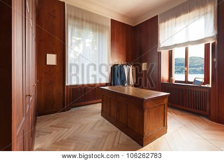 Interior, old wardrobes of a luxury mansion
