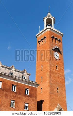 Tall Clock Tower Of Comune Di Gaeta, Italy