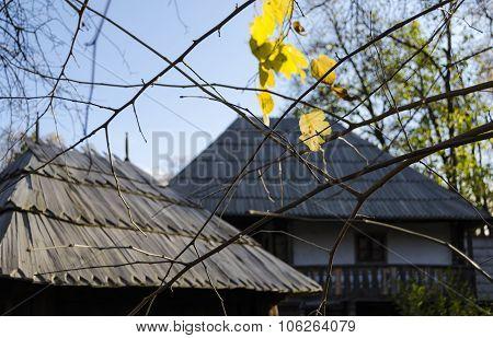 Rustic village in Autumn