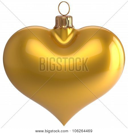 Heart Shape Christmas Ball New Year's Eve Love Bauble Yellow