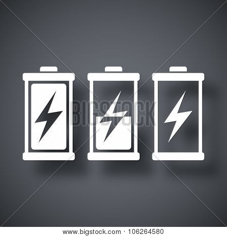 Battery Icons Set, Vector