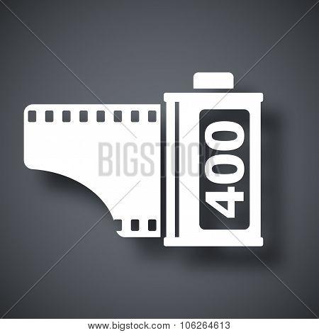 Camera Film Roll Icon, Vector