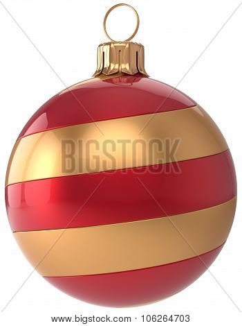 New Year's Eve Bauble Golden Red Christmas Ball Decoration