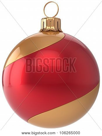 Christmas Ball Decoration New Year's Eve Bauble Red Golden
