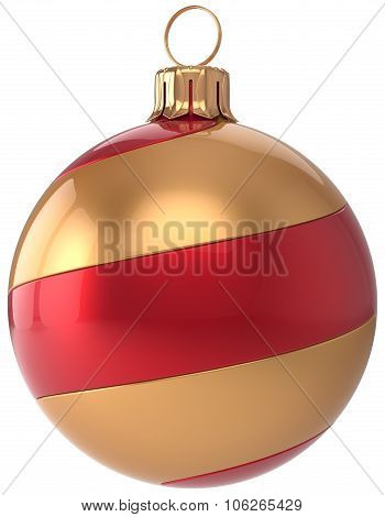 Christmas Ball Decoration New Year's Eve Bauble Golden Red
