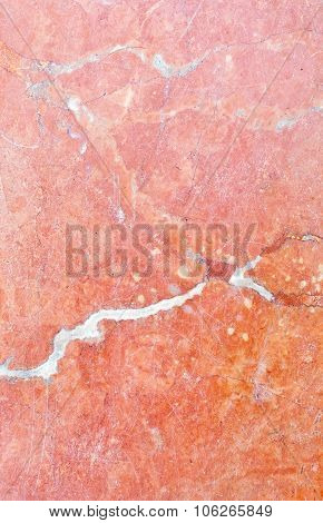 Red Marble Tile Surface With Patina
