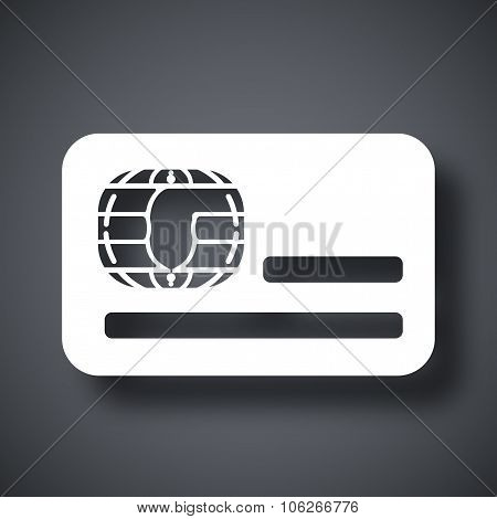 Credit Card Icon, Stock Vector
