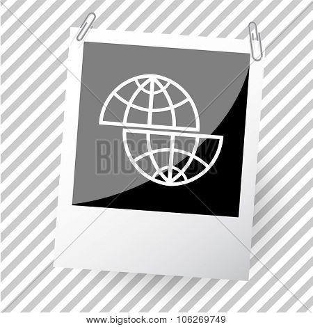 shift globe. Photoframe. Vector icon.