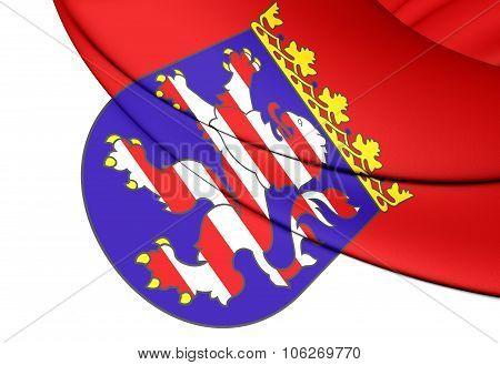 Flag Of Hessen Land, Germany.