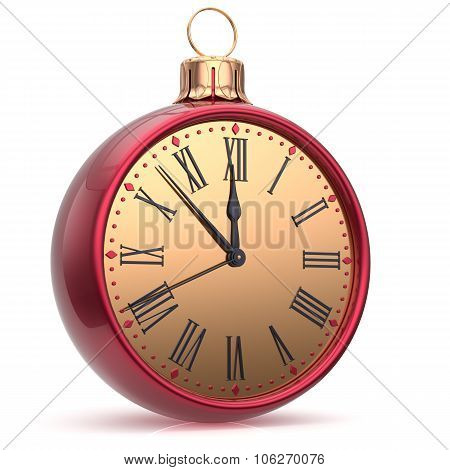 New Year's Eve Clock Countdown Christmas Ball Midnight Time