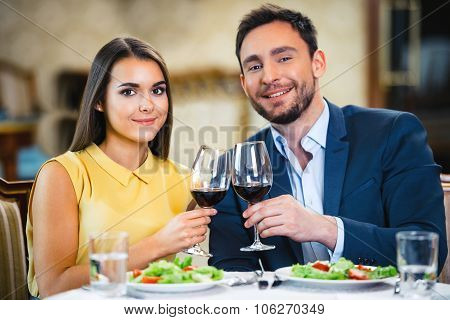 Concept for romantic dinner in expensive hotel