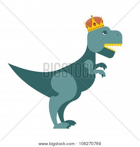 Tyrannosaurus Dinosaur King. T-rex Most Important Prehistoric Monster In  Crown. Terrible Lizard Of