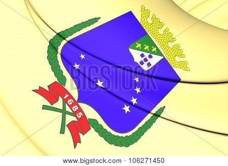 Flag Of Sao Luis (maranhao), Brazil.