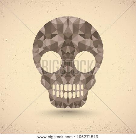 Skull in retro