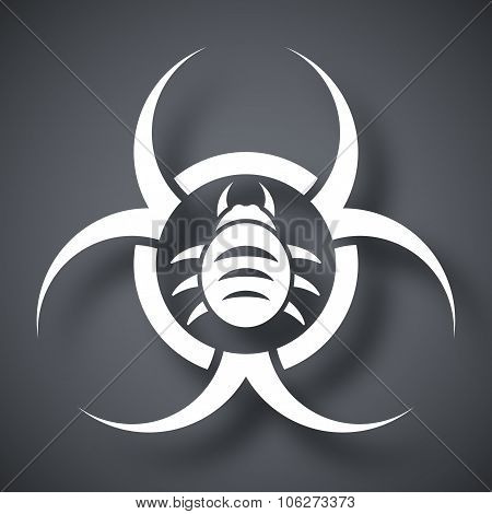 Vector Biohazard Virus Icon