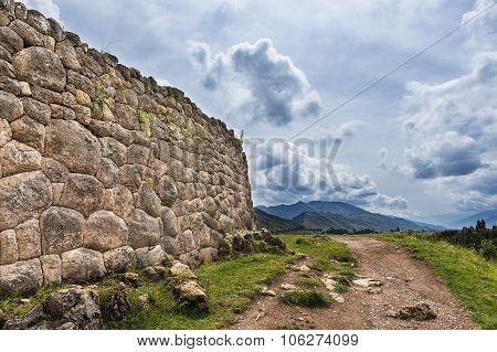 Pakapukara ruins near Cuzco Peru