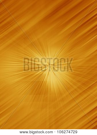Radial Abstract Gold Background