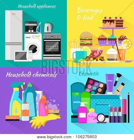 Household and Beverages Food Cosmetic