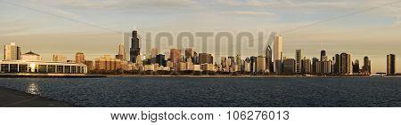 Chicago Morning Panorama