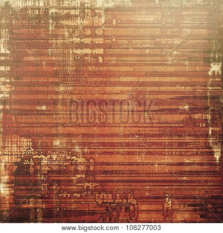 Grunge background with vintage and retro design elements. With different color patterns: yellow (beige); brown; gray; red (orange)