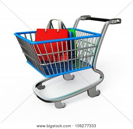 Shopping Trolley Illustration