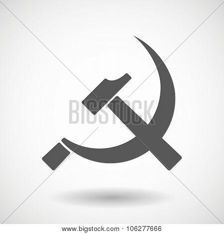 Illustration Of  The Communist Symbol