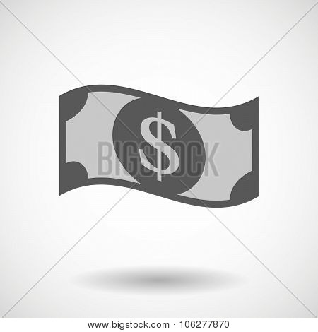 Illustration Of A Dollar Bank Note
